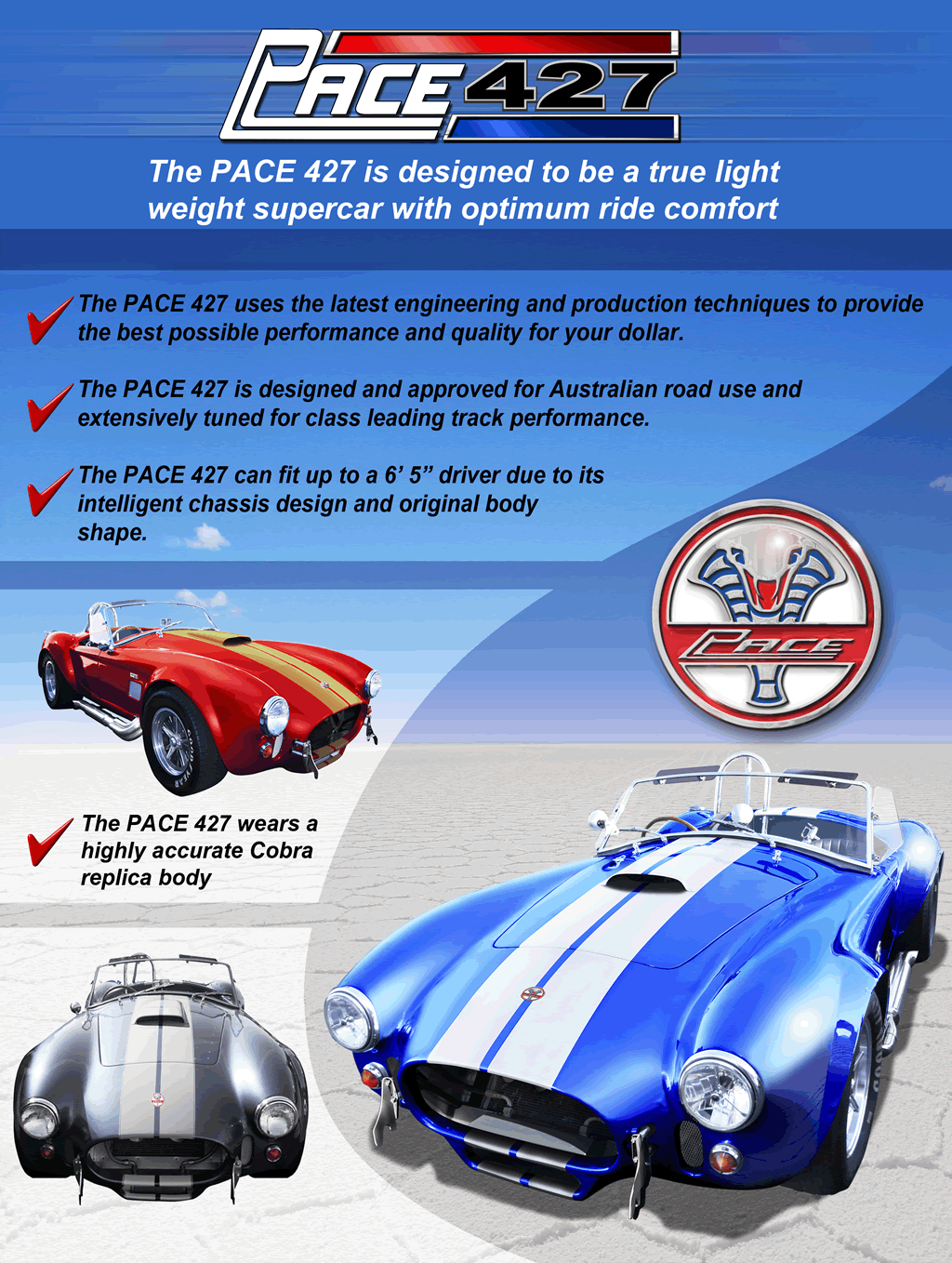 Absolute Pace - Kit Car Manufacturer of Cobra & GT40 Replica\'s and ...