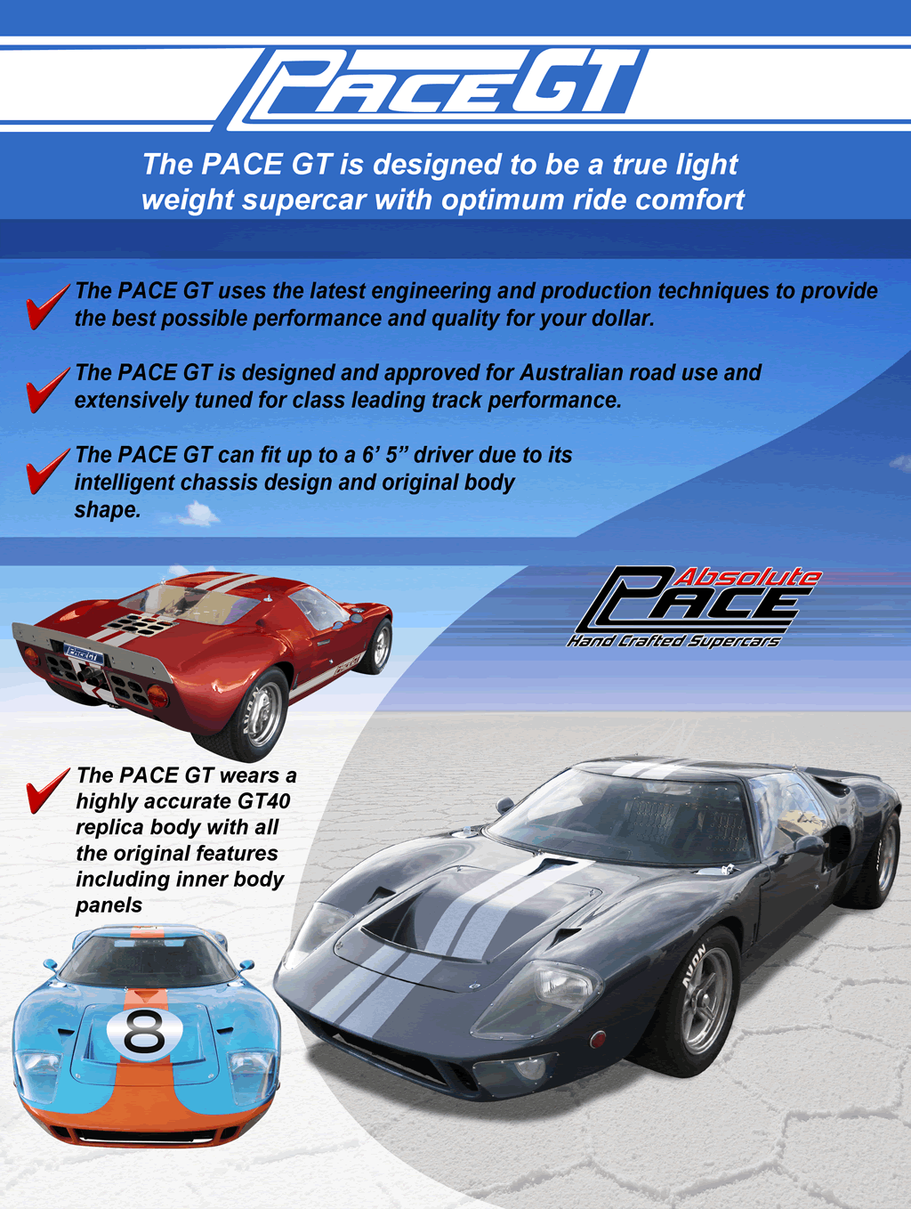 Pace GT Brochure Cover Sheet